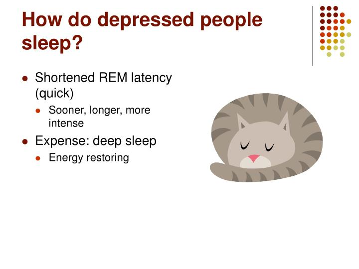 How do depressed people sleep?