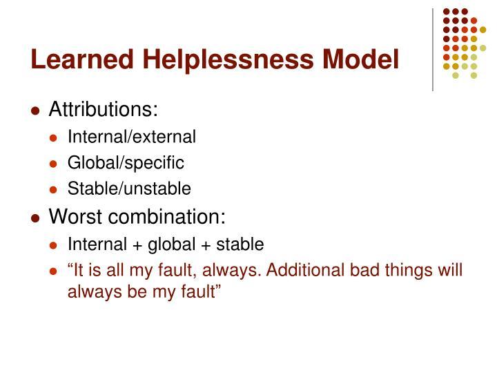 Learned Helplessness Model