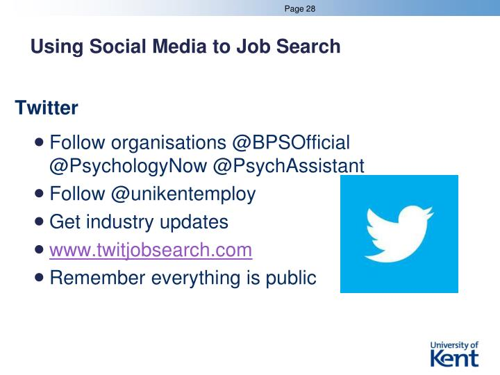 Using Social Media to Job Search