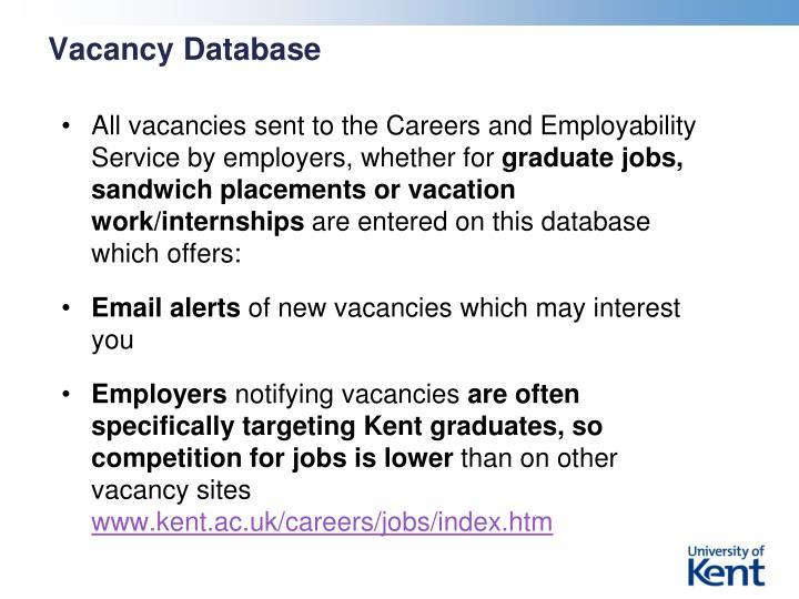 Vacancy Database