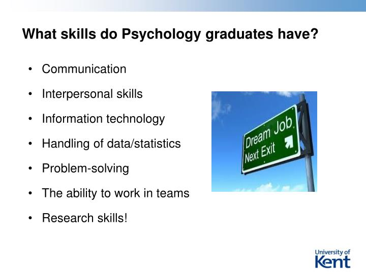What skills do Psychology graduates have?
