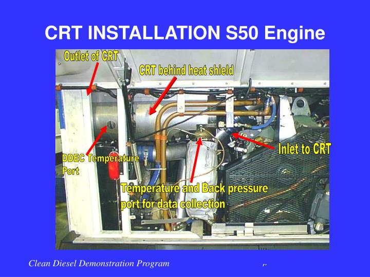 CRT INSTALLATION S50 Engine