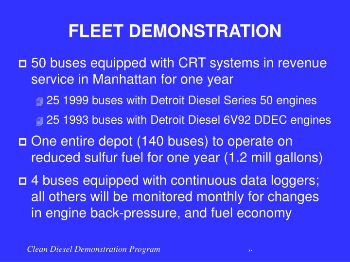 FLEET DEMONSTRATION