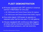 fleet demonstration