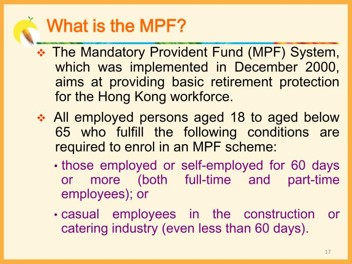 What is the MPF?