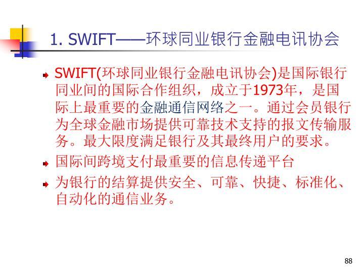 1. SWIFT——