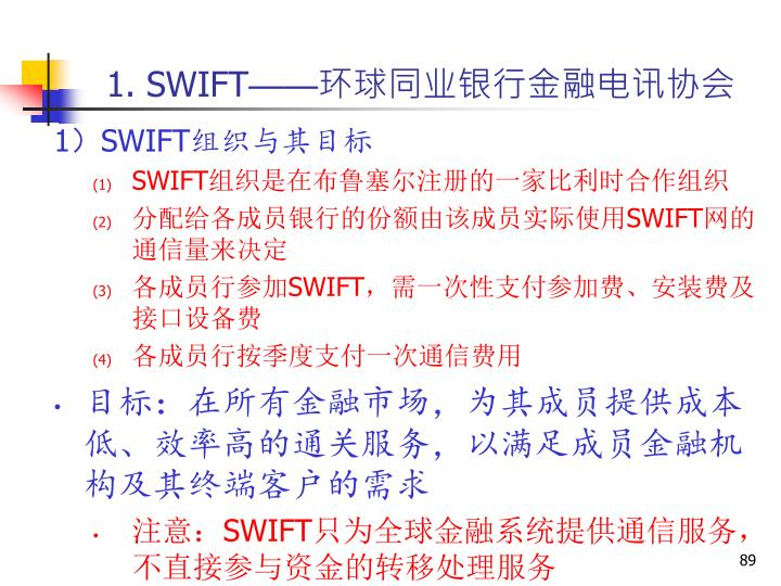 1. SWIFT
