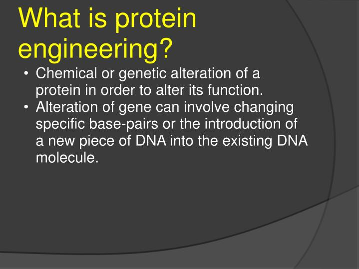 What is protein engineering