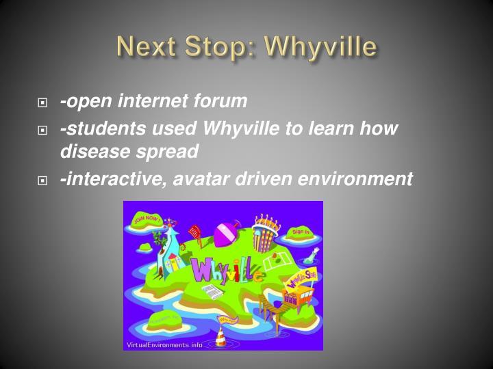 Next Stop: Whyville