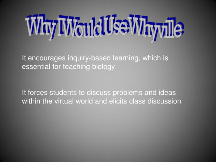 Why I Would Use Whyville