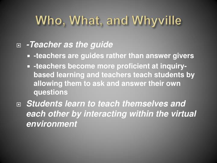 Who, What, and Whyville