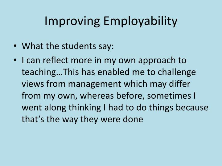 Improving Employability