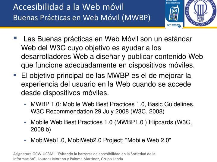 Accesibilidad a la Web móvil
