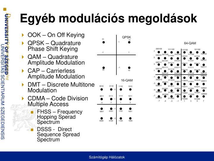 Egyéb modulációs megoldások