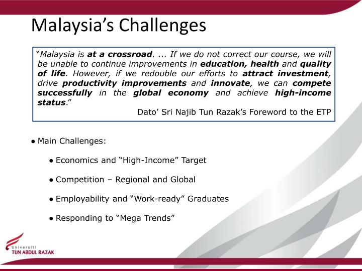 Malaysia s challenges