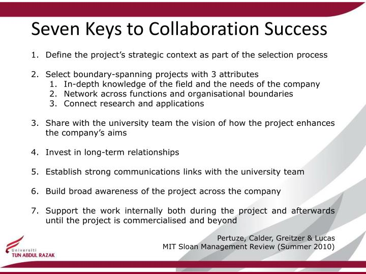 Seven Keys to Collaboration Success