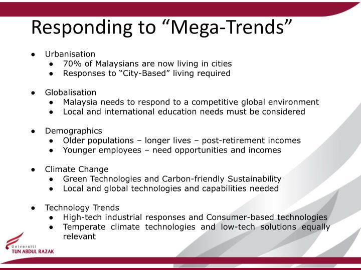 "Responding to ""Mega-Trends"""