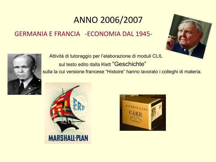 ANNO 2006/2007