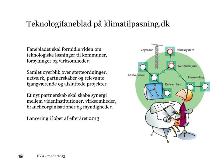 Teknologifaneblad på klimatilpasning.dk