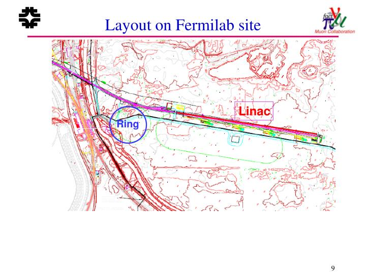 Layout on Fermilab site