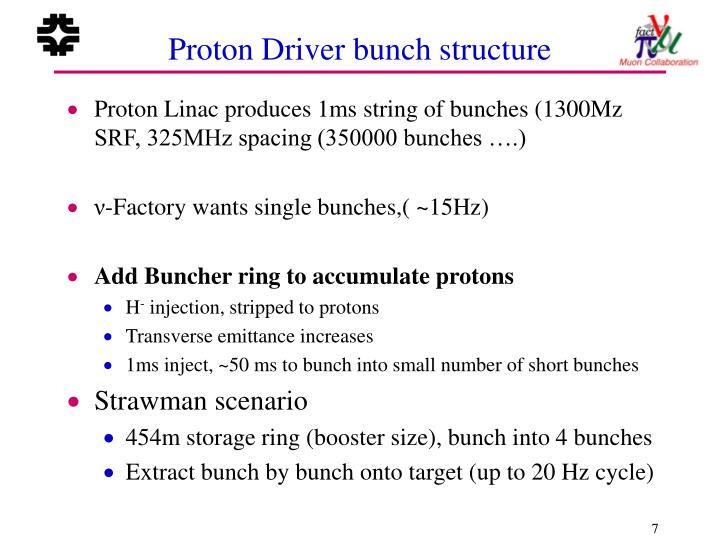 Proton Driver bunch structure