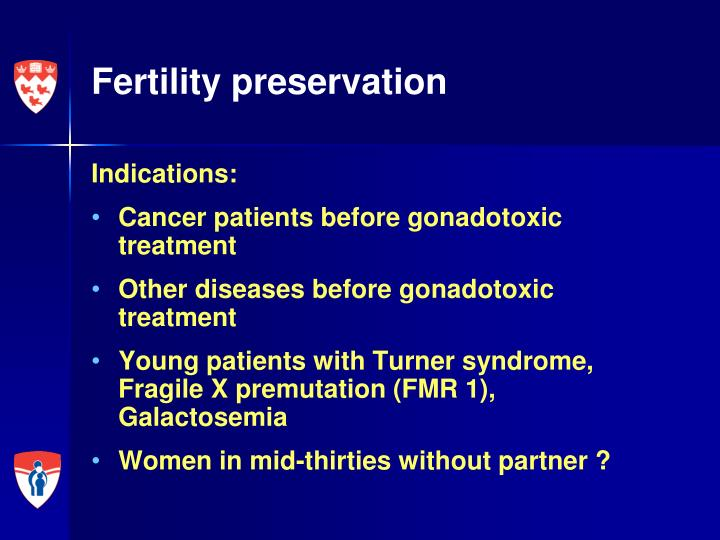 Fertility preservation