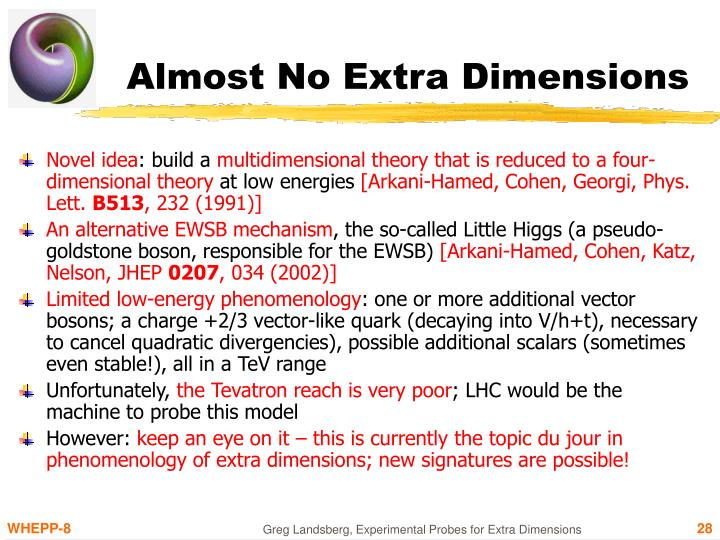 Almost No Extra Dimensions