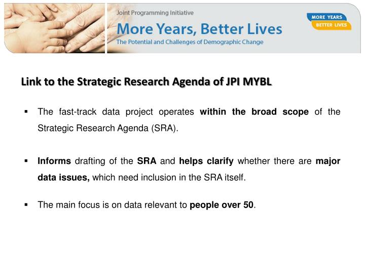 Link to the Strategic Research Agenda of JPI MYBL
