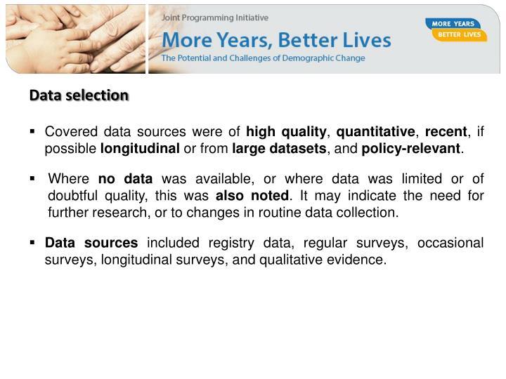 Data selection