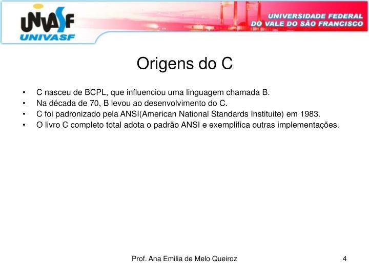 Origens do C