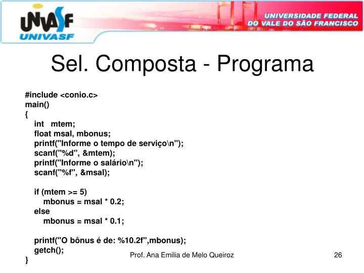 Sel. Composta - Programa