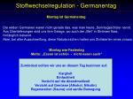 stoffwechselregulation germanentag
