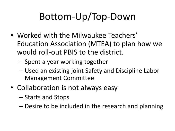 Bottom-Up/Top-Down
