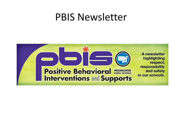 PBIS Newsletter