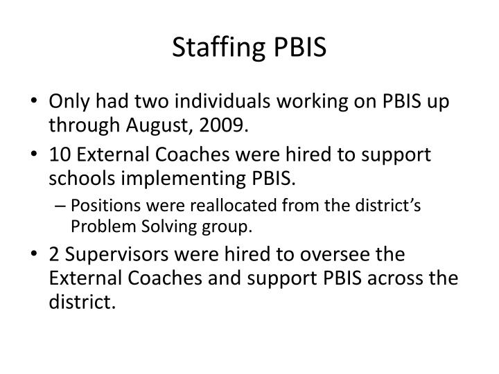 Staffing PBIS