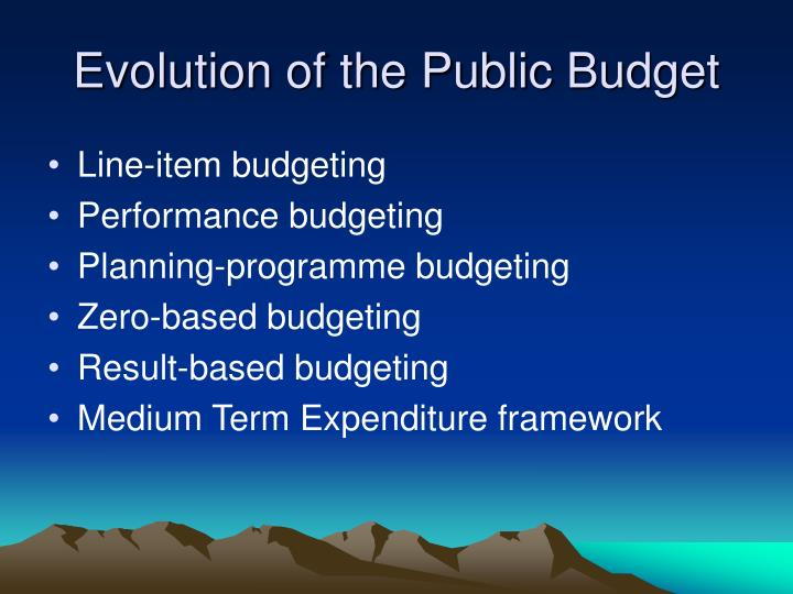 Evolution of the Public Budget
