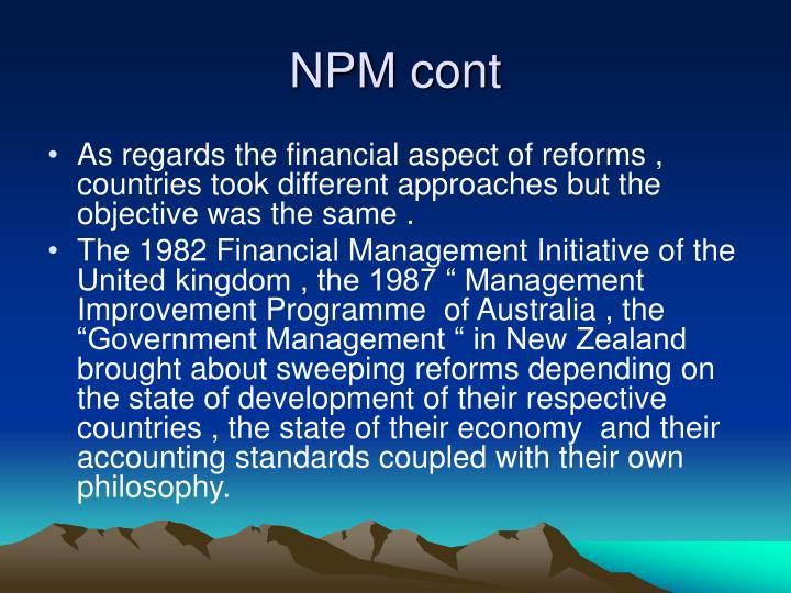 NPM cont