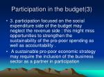 participation in the budget 3