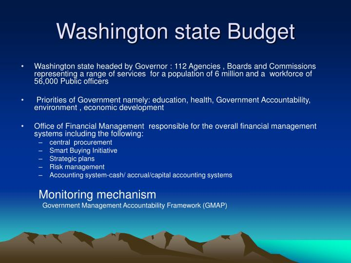 Washington state Budget