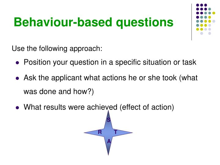 Behaviour-based questions