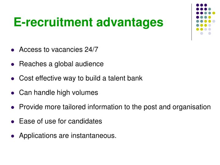 E-recruitment advantages