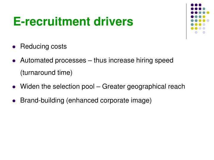 E-recruitment drivers