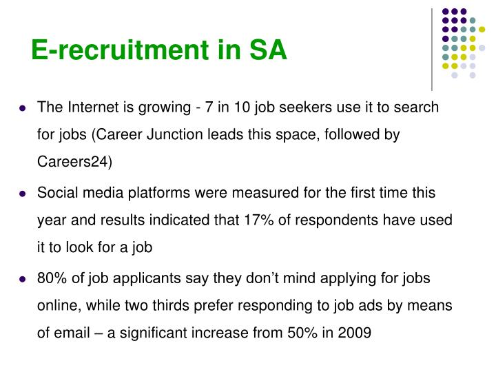 E-recruitment in SA