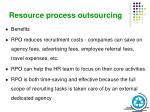 resource process outsourcing1