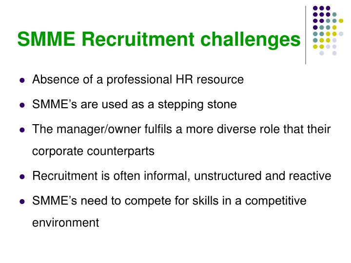 SMME Recruitment challenges