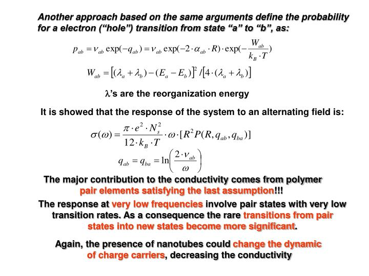 Another approach based on the same arguments define the probability