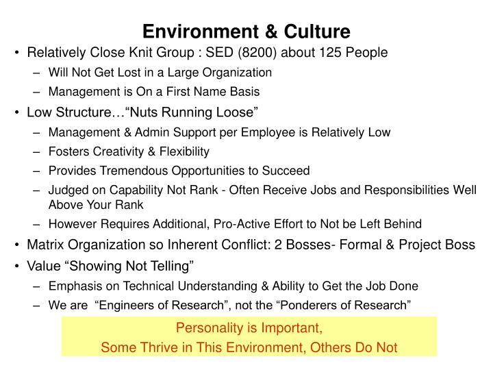 Environment & Culture
