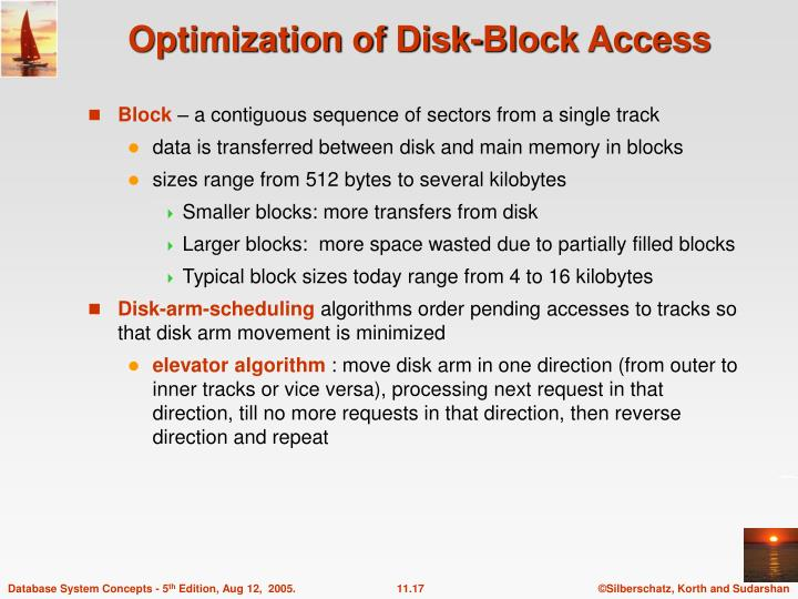 Optimization of Disk-Block Access
