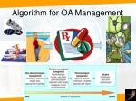 algorithm for oa management