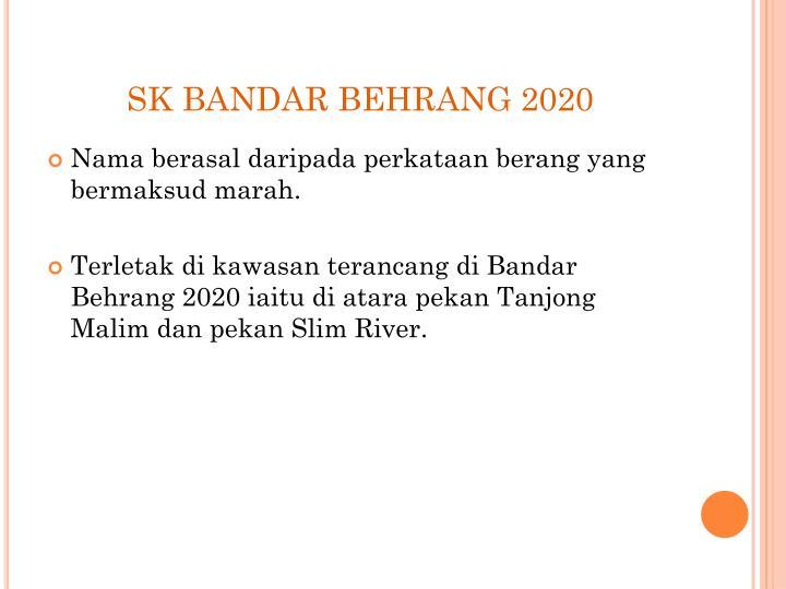 SK BANDAR BEHRANG 2020